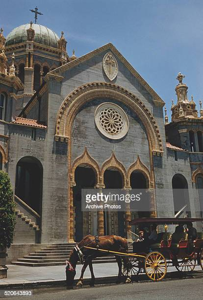 The Memorial Presbyterian Church or Flagler Memorial Church in St Augustine Florida USA circa 1960 It was built in 1889 by business tycoon Henry...