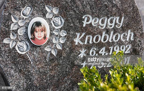 The memorial stone of Peggy Knobloch a nineyearold murdered in 2001 stands in the Protestant cemetery on October 17 2016 in Nordhalben Germany German...