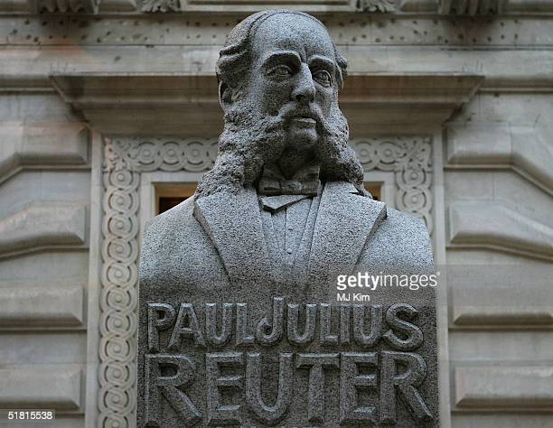 The Memorial to Paul Julius Reuter, founder of Reuters, is seen in the City of London on December 2, 2004 in London. Reuters journalists in Britain...