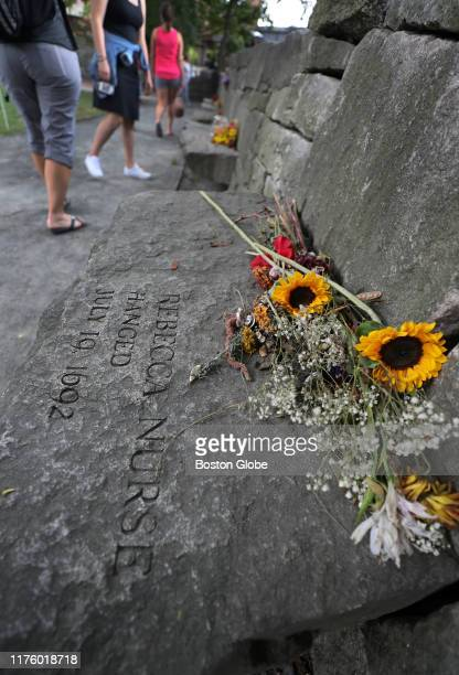The memorial to Rebecca Nurse who was executed for witchcraft is pictured at the Salem Witch Memorial in Salem MA on Sep 26 2019 The legacy of the...