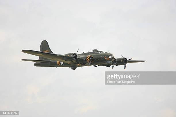 The Memphis Belle a Boeing B17G Flying Fortress on display at Duxford Air Show on May 16 2010