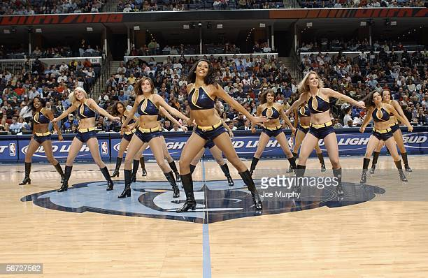 The Memphis Grizzlies dance team performs during a game against the Dallas Mavericks February 1 2006 at the FedEx Forum in Memphis Tennessee NOTE TO...