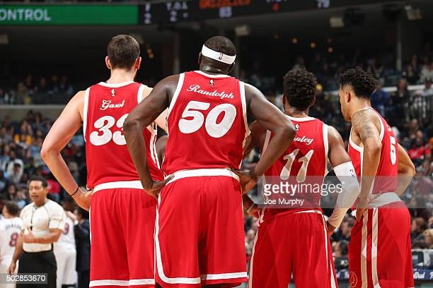 The Memphis Grizzlies during the game against the Miami Heat on December 29 2015 at FedExForum in Memphis Tennessee NOTE TO USER User expressly...