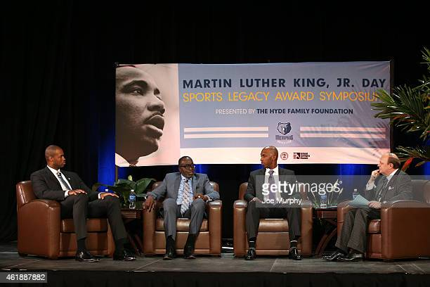 The Memphis Grizzlies held their 13th annual MLK Jr Sports Legacy Symposium The honorees of the Grizzlies' Sports Legacy Award are Earl 'The Pearl'...