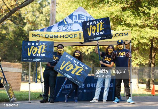 The Memphis Grizzlies host a Voting Event at New Bethel Missionary Church on October 21 2020 in Memphis Tennessee NOTE TO USER User expressly...