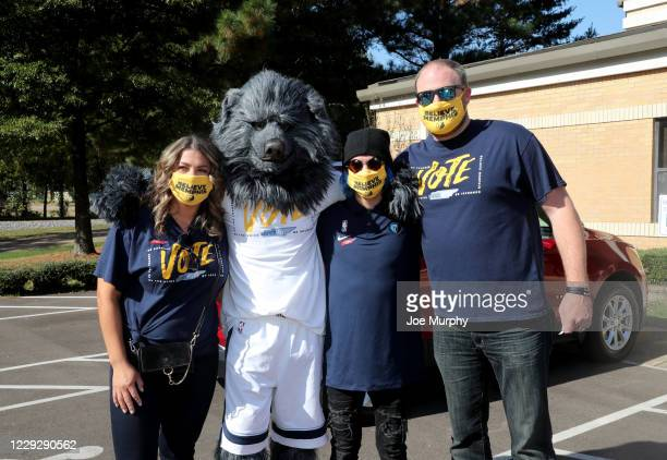 The Memphis Grizzlies host a Voting Event with head coach Taylor Jenkins at New Bethel Missionary Church on October 21 2020 in Memphis Tennessee NOTE...
