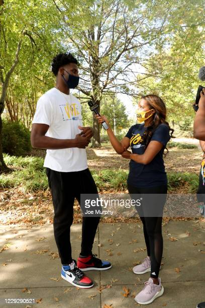 The Memphis Grizzlies host an early Voting Event with Jaren Jackson Jr #13 at Agricenter International on October 21 2020 in Memphis Tennessee NOTE...