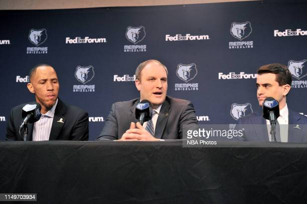 The Memphis Grizzlies introduce Taylor Jenkins as the new head coach during a press conference on June 12 2019 at FedEx Forum in Memphis Tennessee...