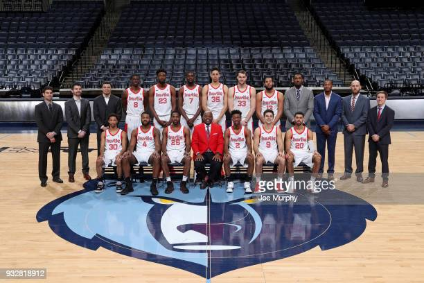 The Memphis Hustle pose for their 201718 team photo on March 15 2018 at FedExForum in Memphis Tennessee NOTE TO USER User expressly acknowledges and...