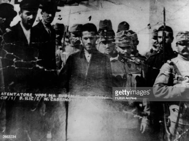 The men accused of the assassination of Archduke Franz Ferdinand and his wife are conducted into the court room Gavrilo Princip Danilo Ilitch N...