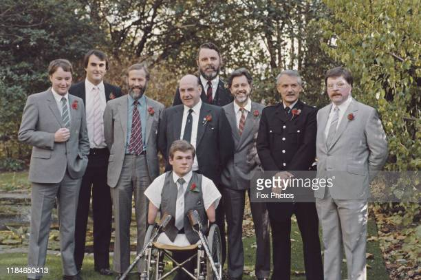The Men of the Year Lunch at the Savoy Hotel in London, 6th November 1985. Among those honoured are Alan Williams, Barry Powell, mountaineer Chris...