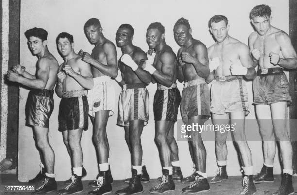The men selected to represent the United States in boxing at the 1948 Summer Olympics, the XIVth Olympiad in London, after the try-outs in Boston,...
