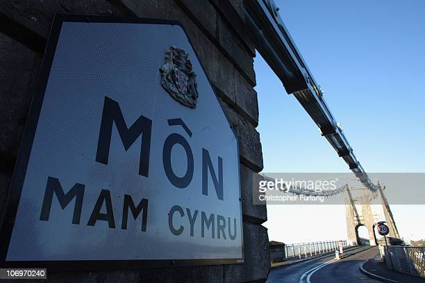 The Menai Bridge on the Isle of Anglesey North Wales on November 19 2010 in Menai United Kingdom Prince William and Kate Middleton who have been in a...