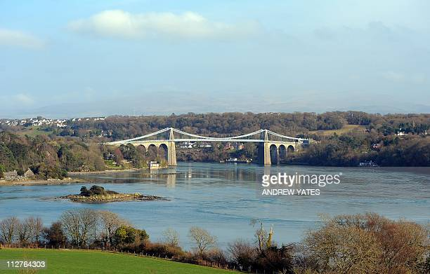 FILES The Menai Suspension Bridge between the island of Anglesey and the mainland of Wales is pictured on March 25 2011 The island of Anglesey has...