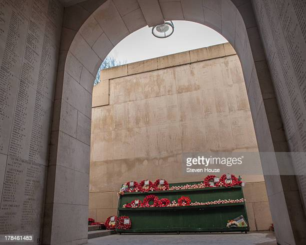 The Menin Gate, Great War Memorial , at Ypres, Flanders, Belgium. Engraved on this gate are the names of all the fallen.