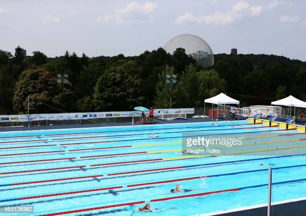 The Men's 800m Freestyle at Parc JeanDrapeau during the 15th FINA World Masters Championships on August 03 2014 in Montreal Canada