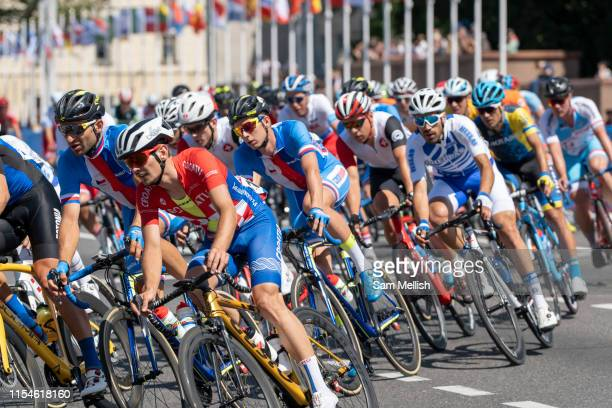 The mens cycling road race during the 2019 Minsk European Games on the 23rd June 2019 in Minsk City in Belarus.