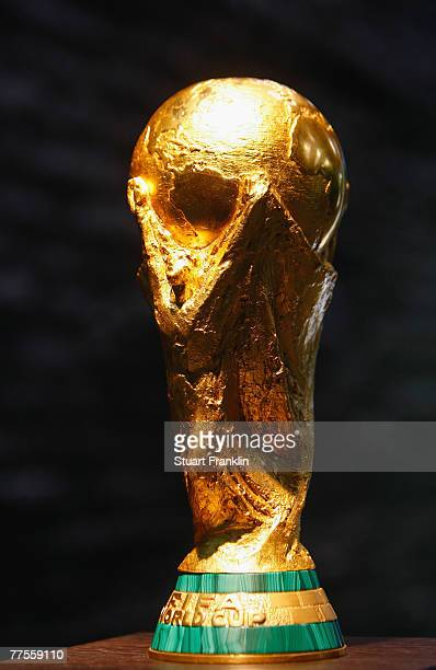 The mens FIFA World Cup trophy during the FIFA Executive Committee announcement for the host venue of the FIFA Womens World Cup 2011, at the FIFA...