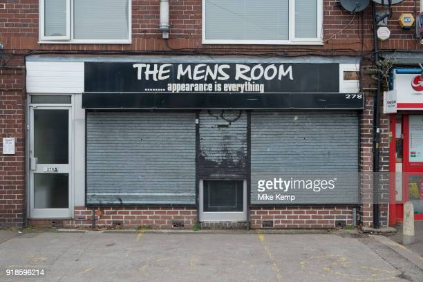 The Men's Room salon shuttered and closed in Birmingham United Kingdom