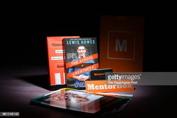 The MentorBox boxed book subscription features The School of Greatness by Lewis Howes along with Annie Duke's Thinking in Bets along with worksheets...