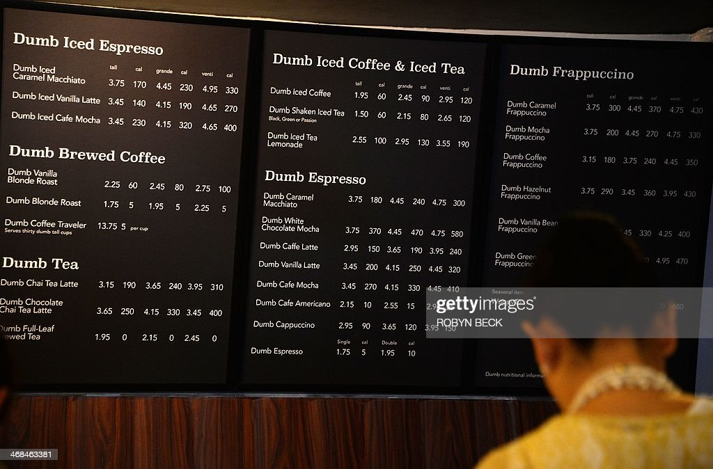The Menu Is Displayed Inside Dumb Starbucks Coffee Shop