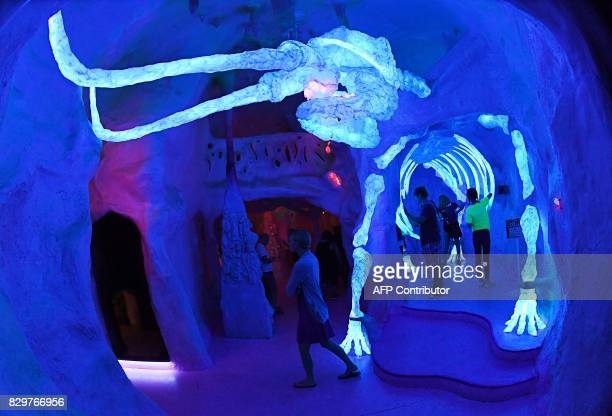 The Meow Wolf tourist attraction which has been described as an 'immersive multimedia experiences' at its location in an old bowling alley in Santa...