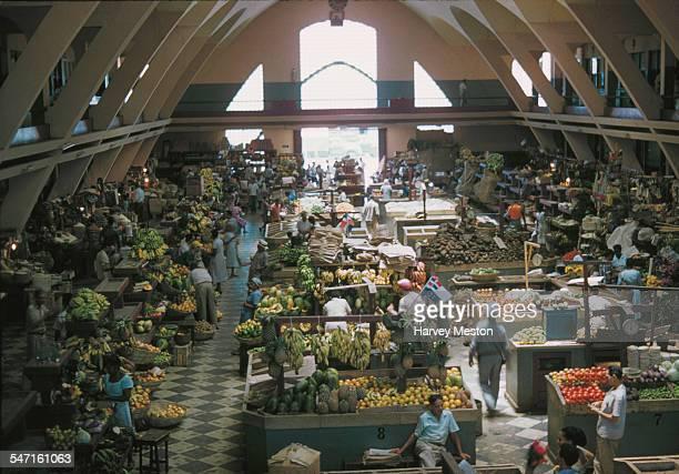 The Mercado Modelo a fruit and vegetable market in Ciudad Trujillo in the Dominican Republic May 1960