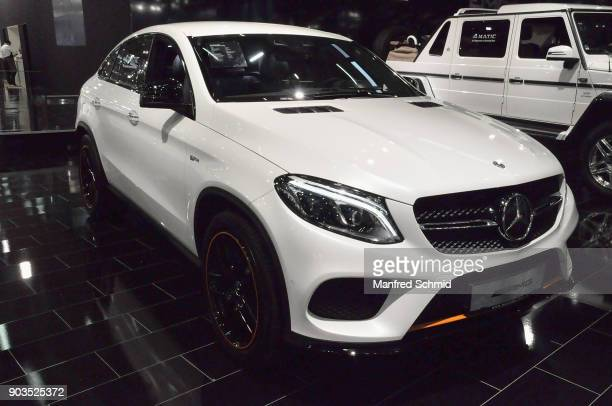 The Mercedes AMG GLE 43 4matic Coupe is displayed during the Vienna Autoshow as part of Vienna Holiday Fair on January 10 2018 in Vienna Austria The...
