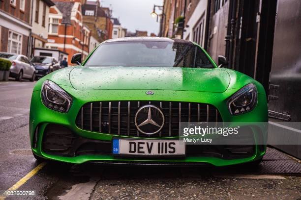 The Mercedes AMG GTR in London England The AMG GT R is tuned to an output of 577 hp with a 062 time of 36 seconds and has a claimed top speed of 198...