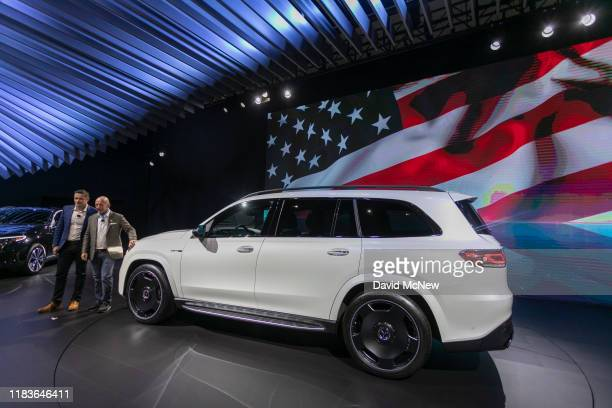 The Mercedes-AMG GLS 63 is shown during its world premiere at AutoMobility LA on November 20, 2019 in Los Angeles, California. The four-day press and...