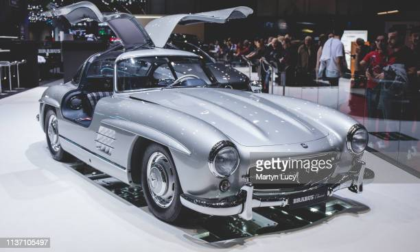 The MercedesBenz 300 SL at the Geneva International Motorshow 2019The 300 SL was produced from 1954 to 1963 First as a coupe from 1954 to 1957 with...
