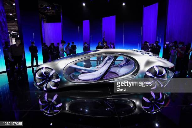 The Mercedes-Benz AG Vision AVTR concept is on displayed during the 19th Shanghai International Automobile Industry Exhibition, also known as Auto...
