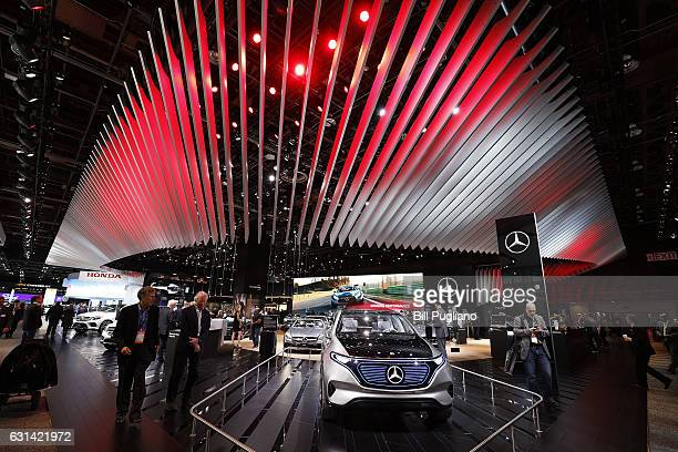 The MercedesBenz Concept EQ is shown at the 2017 North American International Auto Show on January 10 2017 in Detroit Michigan Approximately 5000...