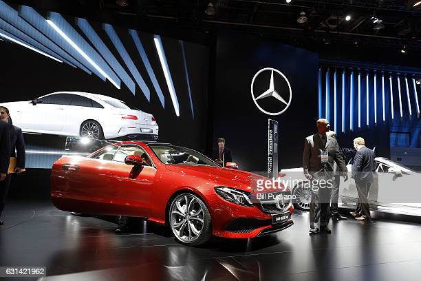 The MercedesBenz E400 Coupe is shown at the 2017 North American International Auto Show on January 10 2017 in Detroit Michigan Approximately 5000...