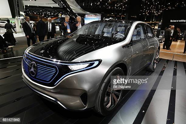 The MercedesBenz EQ Concept is shown at the 2017 North American International Auto Show on January 10 2017 in Detroit Michigan Approximately 5000...