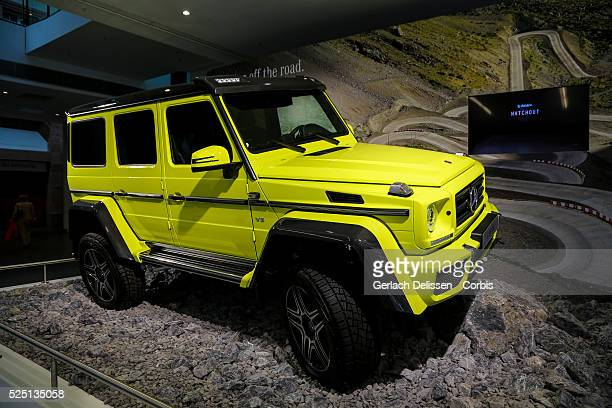 The MercedesBenz GClass 4x4 2 on display during the 66 Internationale AutomobilAusstellung 2015 in Frankfurt am Main Germany on September 16 2015