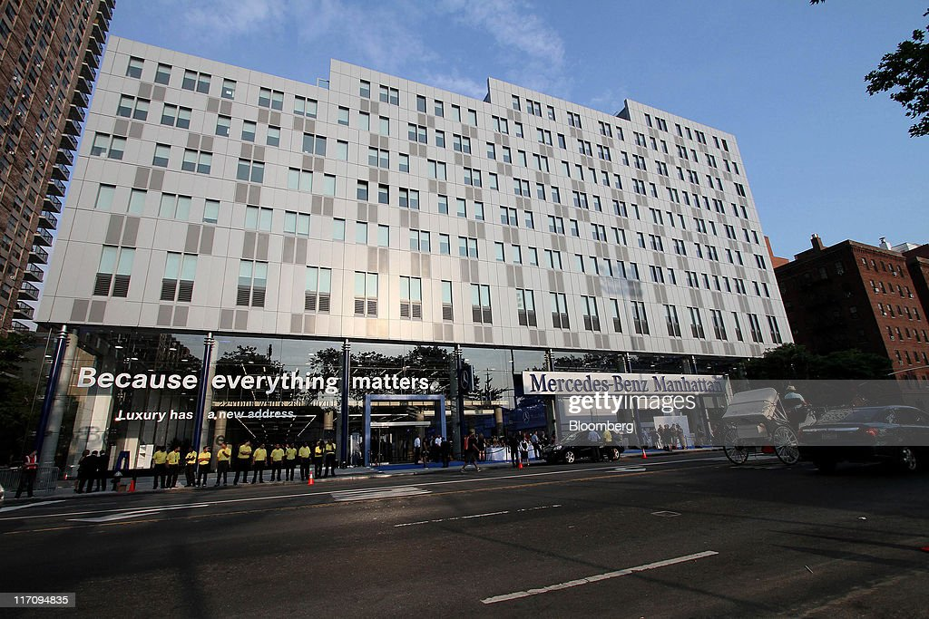 The Mercedes Benz Manhattan Dealership Stands In New York, U.S., On Tuesday,
