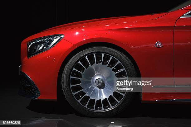 The MercedesBenz Maybach S 650 Cabriolet convertible vehicle is displayed during Automobility LA ahead of the Los Angeles Auto Show in Los Angeles...