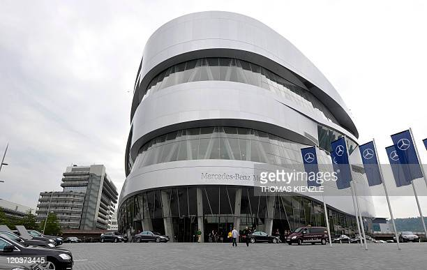 The MercedesBenz Museum is pictured in Stuttgart southern Germany on July 26 2011 For the 125th anniversary of the automotive history the Daimler art...