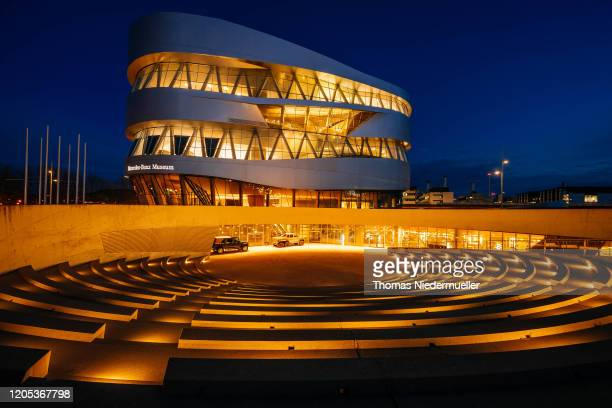 The Mercedes-benz Museum of Daimler AG is seen prior to Daimler's annual press conference to announce financial results for 2019 on February 11, 2020...