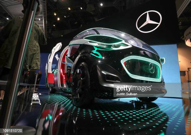 The MercedesBenz Vision URBANETIC autonomous vehicle is displayed inside the MercedesBenz booth during CES 2019 at the Las Vegas Convention Center on...