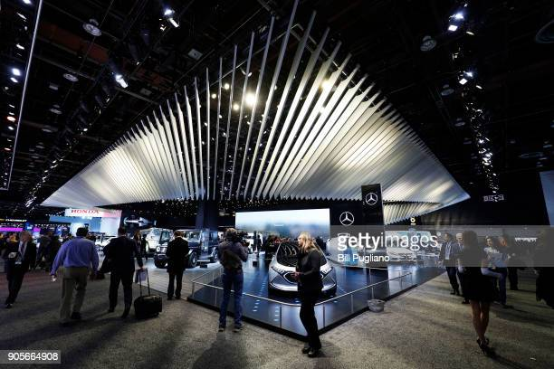 The MercedesBenzexhibit is shown at the 2018 North American International Auto Show January 16 2018 in Detroit Michigan More than 5100 journalists...