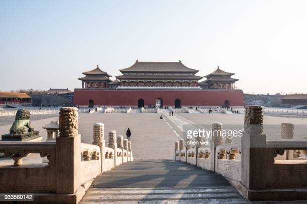 The Meridian Gate (Wu Men) on a sunny day, Forbidden City, Beijing, China