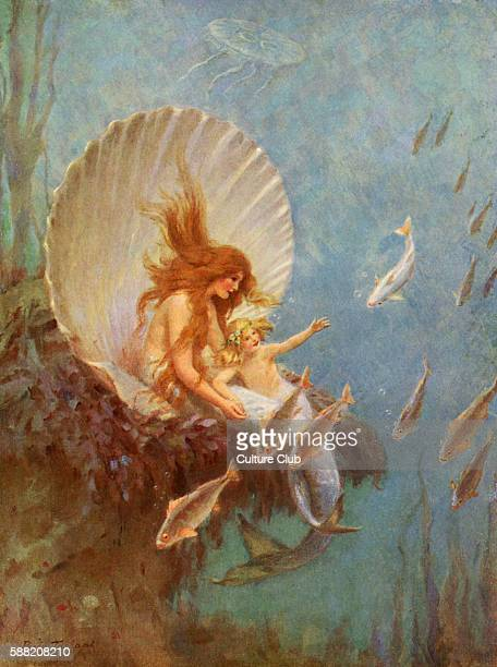 The Mermaid Princess after the fairy tale by Hans Christian Anderson Illustration by Percy Tarrant