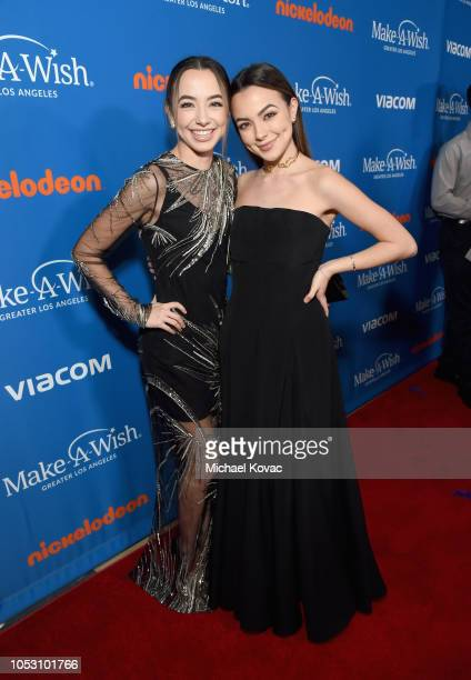 The Merrell Twins arrives at the 2018 Make A Wish Gala at The Beverly Hilton Hotel on October 24 2018 in Beverly Hills California