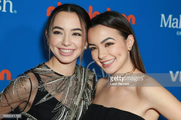 The Merrell Twins attend 2018 Annual WISH Gala Arrivals at The Beverly Hilton Hotel on October 24 2018 in Beverly Hills California