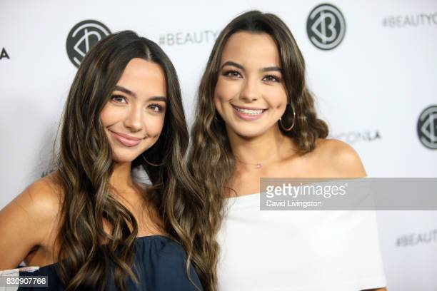 The Merrell Twins attend Day 1 of the 5th Annual Beautycon Festival Los Angeles at the Los Angeles Convention Center on August 12 2017 in Los Angeles...