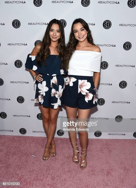 The Merrell Twins attend the 5th Annual Beautycon Festival Los Angeles at the Los Angeles Convention Center on August 12 2017 in Los Angeles...