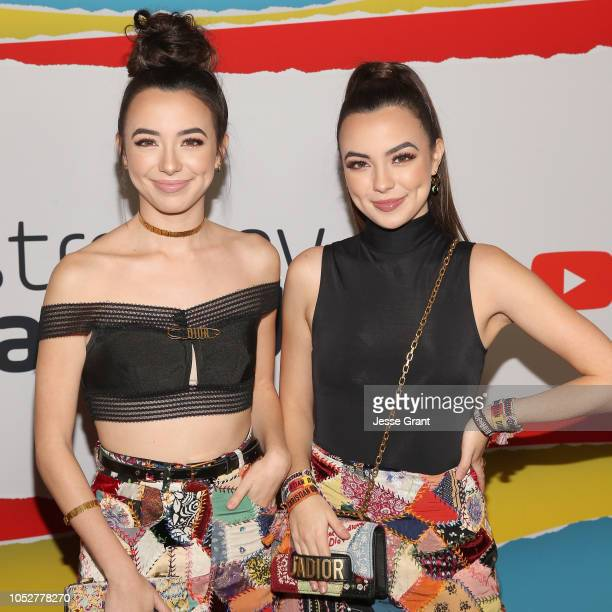 The Merrell Twins attends The 8th Annual Streamy Awards at The Beverly Hilton Hotel on October 22 2018 in Beverly Hills California