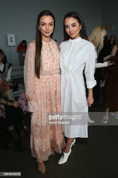 The Merrell twins Vanessa Jo Merrell Veronica Jo Merrell attend the Noon By Noor front row during New York Fashion Week The Shows at Gallery II at...